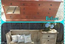 Furnitures before and after makeover