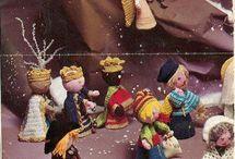 Kerststal haken/breien