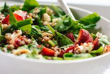 Strawberry N Spinach Salad w/Quinoa