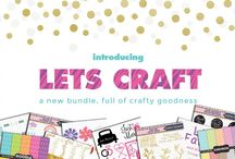The Lets Craft Bundle / 6 Crafter Fonts, 29 Cut Ready craft based packs and 160 Patterns, all for just $12!! That's a whopping 97% OFF. Grab this amazing collection before it expires.  As always, this collection comes with our wonderful complete license, which allows you to use these awesome goodies for a wide range of commercial projects.