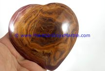 ONYX HEARTS MULTI BROWN ONYX HANDCARVED MARRIAGE VALENTINE LOVE GIFT IDEA NATURAL HEALING STONE