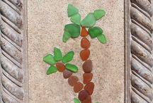 beach glass art