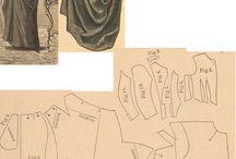 wykroje suknie xix
