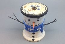 Spool Collecting / Antique sewing spools, carved santa thread spools, hand carved spools, and spool displays and cabinets