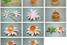 Papír/filc... virágok
