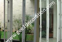 pintu lipat / Melayani pesanan perakitan & pemasangan produk pintu lipat kaca & frame aluminium Kontak : 085811430611 - 081281140189 WA : 087878535337 PIN BB : C0013FA79