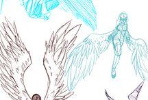 poses con alas