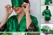 IRISH GREEN / A showcase for our 'Jewel Collection' of  'Irish Green'  sleepwear and accessories