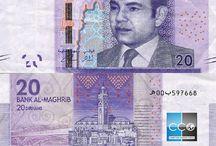 Billets Maroc / Les billets de banque Maroc en circulation sont : 20, 50, 100 et 200 MAD. La nouvelle série de billet (sortie en 2012) conçue sous la coupole de Bank Al Maghrib met donc un accent particulier sur la sécurité pour limiter au maximum la contrefaçon.