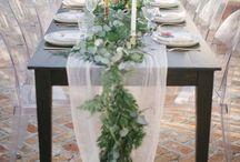 Wedding decoration / Natural, romantic, boho, relaxed, rustic, totally DIY-able wedding decor ideas