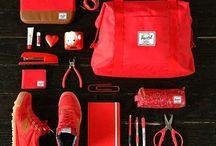 Red Fashion Flatlay