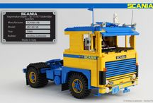 SCANIA LB 140 ATS 1:13 SCALE LEGO® MODEL / Here the fifth model of my 1:13 LEGO model truck series. It's the famous SCANIA LB 140, launched in 1969 by the Swedish manufacturer during the Frankfurt Truck Exhibition. Under the cab it has the great V8 engine with 352 HP. This great 140 was registered in Italy on 24th may 1976 and it has been restored in 2010 by the owner of ATS (a northern Italy transport company).