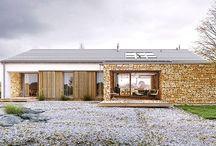 """Häuser - Vorschläge für Technologie """"Keramikplatte"""" / Diese Technologie ist ideal geeignet zur Projektierung und zum reibungslosen und effektiven Bauen von energiesparenden Gebäuden und Passiv-Einfamilienhäusern: Freistehende-, Doppel-, Reihen-, Atriumhäuser und für Siedlungen."""