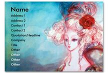 BUSINESS CARDS, CARD HOLDERS AND NAMEPLATES FOR YOUR BUSINESS / Artistic,attractive and original double-sided business cards by Bulgan Lumini (c)
