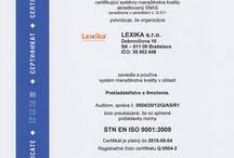 Preklady dokumentov / O prekladaní dokumentov