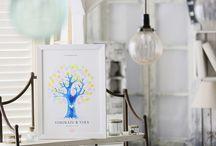ウェディングツリー design line [ wedding tree / guest book ]