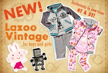 vintage collection / Vintage inspired fabrics, soft sporty washes and cool textures. Sizes 4T-5T / by LAZOO