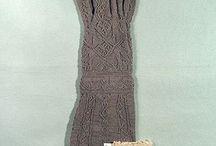 Gotländska stickmönster (sticksöm) / Knitted items from Gotland in Sweden