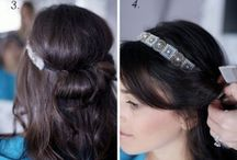 Long haired Flapper hairstyles