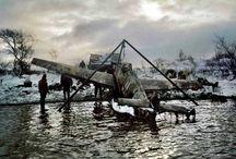 wrecks of aircraft