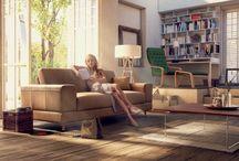 Sedací soupravy / Vytvořte z místností domov. Sedací souprava je srdcem každého domova. Proto musí vyhovovat Vašim potřebám a stylu.