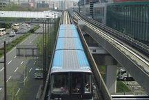 Osaka New tram / 大阪市交通局が運営する新交通システムです。 住之江公園からコスモスクエア間を結んでいます。 以前は、中ふ頭まででしたが、OTS線が大阪市営地下鉄に吸収合併されたことで、現在は住之江公園からコスモスクエアまでを結ぶ循環路線の一端を担っています。
