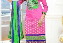 Cotton Salwar Kameez / http://www.sareez.com/Salwar-Kameez/By-Fabric/Cotton-Salwar/