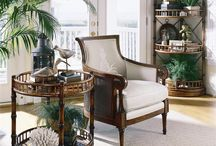 Tropical Island Style / Tropical style decorating influenced by the British Colonial period, island style, palm trees,