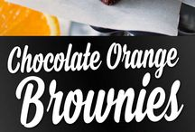 Chocolate orange brownie