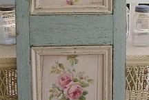 beautiful  doors with wallpaper