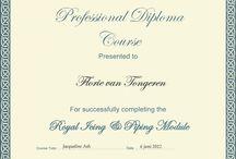 Diploma's Taart Decoreren / PME Certificaten en diploma's