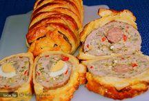 rulada din carne drob chec  aperitiv