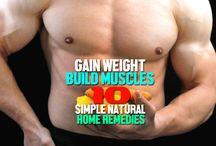 Gain weight & muscles, Bodybuilding / Best natural home remedies for healthy weight gain, muscles gain. Tips for fast weight gain, bodybuilding, Ideal diet for weight gain & muscle building.