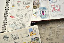 Journals and drawings