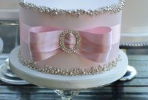 cake ideas for bling, silver..