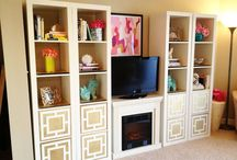 Shelf Styling / Colorful and Interesting ways to style shelves.