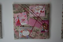 Memo borden - handmade / Memo boards 'For girls only'