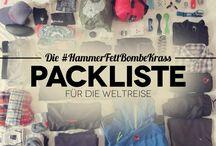 Packlisten für deine Weltreise
