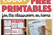Teaching printables