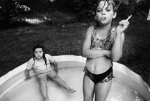 "Mary Ellen Mark / (1940 – 2015) American photographer known for her photojournalism/documentary photography, portraiture, and advertising photography. She photographed people who were ""away from mainstream society and toward its more interesting, often troubled fringes""."
