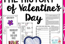 February Classroom / February Resources, Activities, and Ideas for Math Teachers, Educators, and Students in Upper Elementary and Middle School - Valentine's Day, Presidents Day