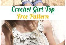 girls crochet tops