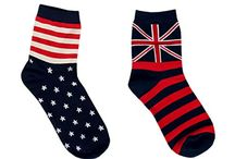 Men Women Casual US UK Pattern Crew Socks 2-Pack FREE Size