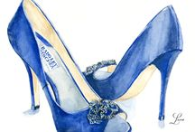 fashion illustration only shoes