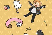 ilustraciones kawaii