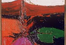 Abstract Oils / Oil paintings on canvas, primarily from 1950 - 1970.