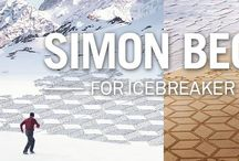 Simon Beck for Icebreaker / Icebreaker have launched a  new collection of underwear, tops and hoodies featuring stunning geometric designs inspired by the work of globally renowned British artist, Simon Beck. The Simon Beck designs are created with only a compass and his feet. FInd out more about Simon Beck Icebreaker Clothing  Designs here: http://www.outsidesports.co.nz/buyers-guides/outdoor-clothing/about-icebreaker/simon-beck