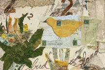 Bye Bye BIRDIE art Regina M. Thomas / BIRDS of all kinds used through the years in my collage & mixed Media art.