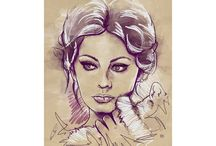 W-ICONS / Digital Portraits of Famous Women