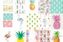 Abacaxi / Estampas fresquinhas para o verão: ABACAXI. O rei da fruteira para o dia-a-dia.